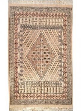tappeto berbero Grande Tappeto Margoum Jilma 160x250 Beige (Fatto a mano, Lana) Tappeto margoum tunisino della città di Kairouan
