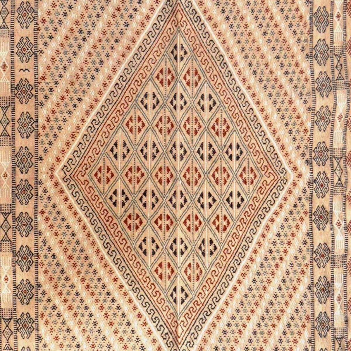 Berber carpet Large Rug Margoum Jilma 160x250 Beige (Handmade, Wool) Tunisian margoum rug from the city of Kairouan. Rectangular
