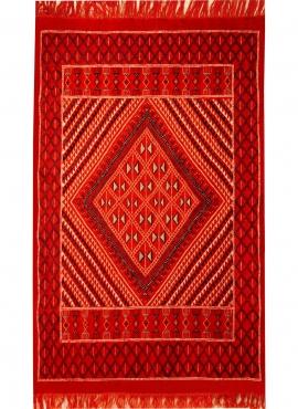 Tapete berbere Tapete Margoum Kantoui 120x180 Vermelho (Artesanal, Lã) Tapete Margoum tunisino da cidade de Kairouan. Tapete ret