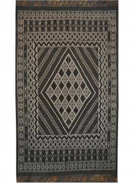 Berber Teppich Großer Teppich Margoum Kesra 165x250  Grau anthrazit (Handgefertigt, Wolle) Tunesischer Margoum-Teppich aus der S
