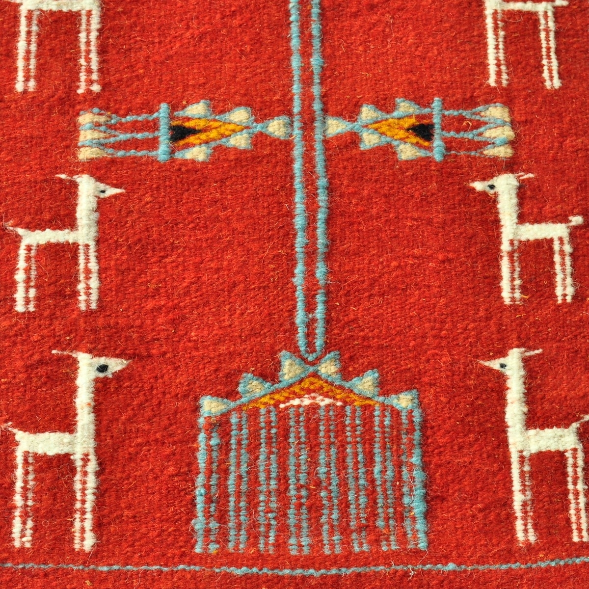 Berber carpet Rug Kilim long Bourdguen 65x195 Red (Handmade, Wool) Tunisian Rug Kilim style Moroccan rug. Rectangular carpet 100