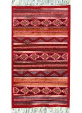 Berber tapijt Tapijt Kilim El Guettar 70x105 Veelkleurig (Handgeweven, Wol, Tunesië) Tunesisch kilimdeken, Marokkaanse stijl. Re