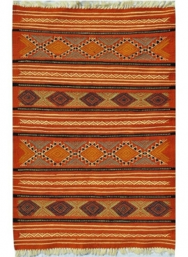Berber carpet Rug Kilim Sayada 67x100 Multicolour (Handmade, Wool, Tunisia) Tunisian Rug Kilim style Moroccan rug. Rectangular c