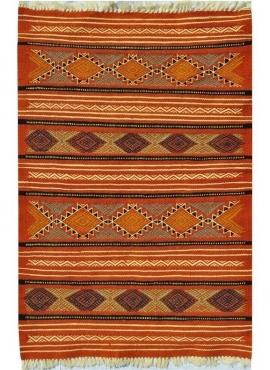 Berber tapijt Tapijt Kilim Sayada 67x100 Veelkleurig (Handgeweven, Wol, Tunesië) Tunesisch kilimdeken, Marokkaanse stijl. Rechth