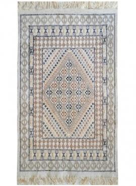 Tapis berbère Tapis Margoum Khaznadar 115x195 Blanc (Fait main, Laine, Tunisie) Tapis margoum tunisien de la ville de Kairouan.