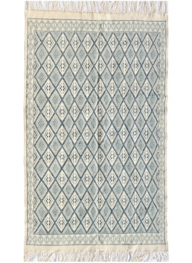 Berber carpet Large Rug Margoum Thyna 196x314 Blue/White (Handmade, Wool, Tunisia)