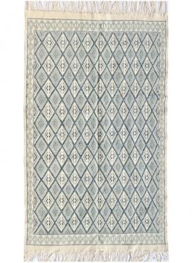 Berber Teppich Großer Teppich Margoum Thyna 196x314 Blau/Weiss (Handgefertigt, Wolle, Tunesien) Tunesischer Margoum-Teppich aus