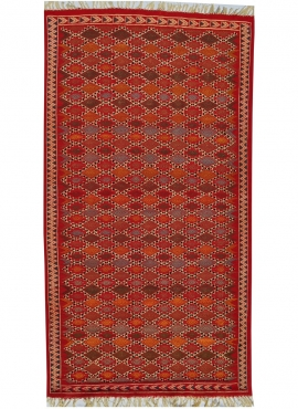 Berber carpet Rug Kilim Sultan 100x205 Multicolour (Handmade, Wool, Tunisia) Tunisian Rug Kilim style Moroccan rug. Rectangular