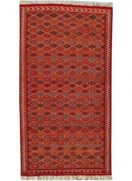Berber Teppich Teppich Kelim Sultan 100x205 Mehrfarben (Handgewebt, Wolle, Tunesien) Tunesischer Kelim-Teppich im marokkanischen