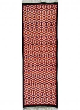 Berber carpet Rug Kilim long Jeyed 70x200 Multicolour (Handmade, Wool) Tunisian Rug Kilim style Moroccan rug. Rectangular carpet