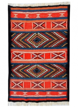 Berber Teppich Teppich Kelim Akil 77x105 Mehrfarben (Handgewebt, Wolle) Tunesischer Kelim-Teppich im marokkanischen Stil. Rechte