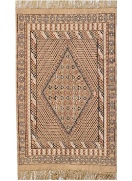 Berber tapijt Tapijt Margoum Bulla regia 110x200 Beige/Bruin (Handgeweven, Wol, Tunesië) Tunesisch Margoum Tapijt uit de stad Ka