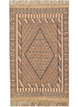 Berber Teppich Teppich Margoum Bulla regia 110x200 Beige/Braun (Handgefertigt, Wolle) Tunesischer Margoum-Teppich aus der Stadt