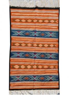 Berber Teppich Teppich Kelim carmona 110x150 Mehrfarben (Handgewebt, Wolle) Tunesischer Kelim-Teppich im marokkanischen Stil. Re