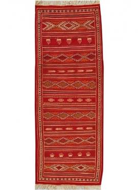 Tapis berbère Tapis Kilim long Midoun 75x205 Multicolore (Tissé main, Laine) Tapis kilim tunisien style tapis marocain. Tapis re