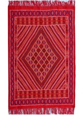 Tapis berbère Tapis Margoum Tounes 125x190 Rouge (Fait main, Laine) Tapis margoum tunisien de la ville de Kairouan. Tapis de sal