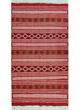 Berber Teppich Teppich Kelim Zaafrane 105x145 Mehrfarben (Handgewebt, Wolle, Tunesien) Tunesischer Kelim-Teppich im marokkanisch