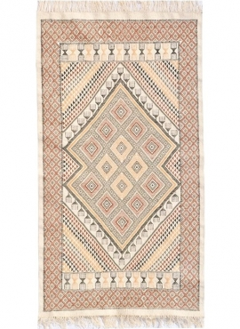 Berber carpet Rug Margoum Zarzis 100x195 White (Handmade, Wool, Tunisia) Tunisian margoum rug from the city of Kairouan. Rectang