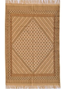 Berber carpet Large Rug Margoum Carthage 200x300 Beige (Handmade, Wool) Tunisian margoum rug from the city of Kairouan. Rectangu
