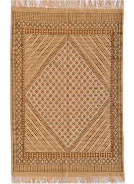 tappeto berbero Grande Tappeto Margoum Carthage 200x300 Beige (Fatto a mano, Lana) Tappeto margoum tunisino della città di Kairo
