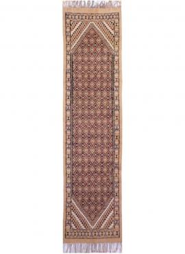 Tapis berbère Grand Tapis Margoum Sana 75x310 Beige (Fait main, Laine) Tapis margoum tunisien de la ville de Kairouan. Tapis de