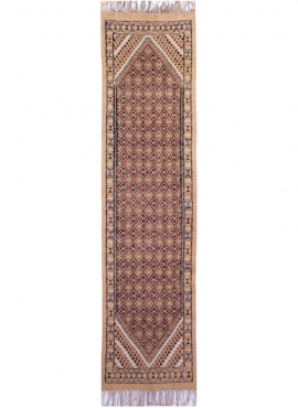 tappeto berbero Grande Tappeto Margoum Sana 75x310 Beige (Fatto a mano, Lana) Tappeto margoum tunisino della città di Kairouan.