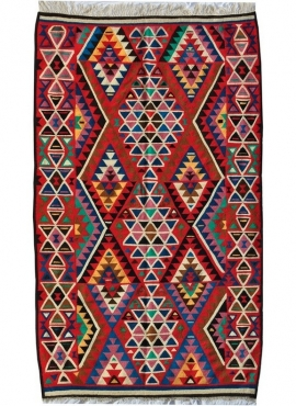 Berber carpet Large Rug Kilim Sahar 150x250 Multicolour (Handmade, Wool, Tunisia) Tunisian Rug Kilim style Moroccan rug. Rectang