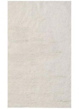 Tapis berbère Tapis Laine Blanc Hassi 170x240 (Noué main, unique, Tunisie) Tapis berbère haute laine blanc tunisien style tapis