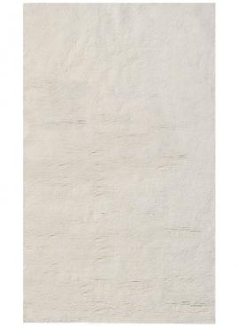 Berber Teppich Teppich Wolle Weiß Hassi 170x240 (Handgefertigt, Tunesien) Tunesischer Berber-Teppich aus weißer Wolle, hohes Haa