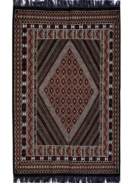 Berber tapijt Groot Tapijt Margoum Foussana 200x300 Zwart (Handgeweven, Wol, Tunesië) Tunesisch Margoum Tapijt uit de stad Kairo