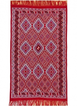 Berber tapijt Tapijt Margoum Ayoun 126x208 Rood (Handgeweven, Wol, Tunesië) Tunesisch Margoum Tapijt uit de stad Kairouan. Recht