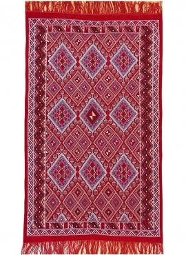Berber Teppich Teppich Margoum Ayoun 126x208 Rot (Handgefertigt, Wolle) Tunesischer Margoum-Teppich aus der Stadt Kairouan. Rech