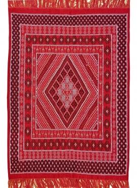 Tapis berbère Tapis Margoum Eklil 171x238 cm Rouge (Fait main, Laine) Tapis margoum tunisien de la ville de Kairouan. Tapis de s
