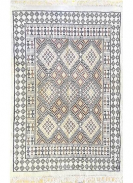 Berber carpet Rug Margoum Salsabile 176x256 White/Beige (Handmade, Wool, Tunisia) Tunisian margoum rug from the city of Kairouan