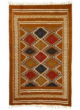 Tapete berbere Tapete Kilim Farran 60x98 Amarelo (Tecidos à mão, Lã, Tunísia) Tapete tunisiano kilim, estilo marroquino. Tapete