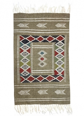 Berber tapijt Tapijt Kilim Awriba 58x96 Grijs (Handgeweven, Wol, Tunesië) Tunesisch kilimdeken, Marokkaanse stijl. Rechthoekig w