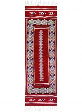 Tapis berbère Tapis Kilim long Senniri 58x197 Multicolore (Tissé main, Laine) Tapis kilim tunisien style tapis marocain. Tapis r