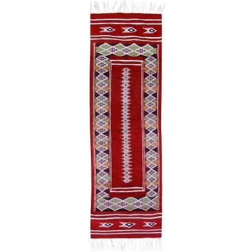 Berber tapijt Tapijt Kilim lang Senniri 58x197 Veelkleurig (Handgeweven, Wol, Tunesië) Tunesisch kilimdeken, Marokkaanse stijl.