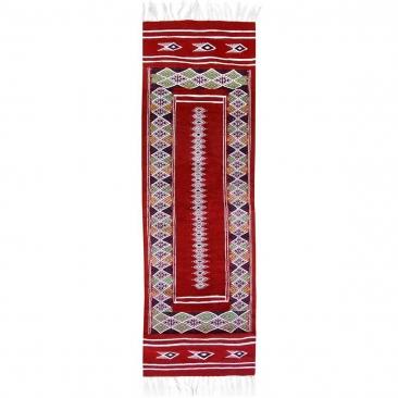 tappeto berbero Tappeto Kilim lungo Senniri 58x197 Multicolore (Fatto a mano, Lana) Tappeto kilim tunisino, in stile marocchino.