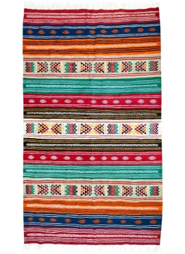 Alfombra bereber Alfombra Kilim Zegna 118x204 Multicolor (Hecho a mano, Lana) Alfombra kilim tunecina, estilo marroquí. Alfombra