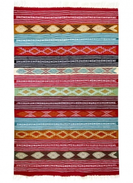 Alfombra bereber Alfombra Kilim Nemzi 118x192 Multicolor (Hecho a mano, Lana) Alfombra kilim tunecina, estilo marroquí. Alfombra