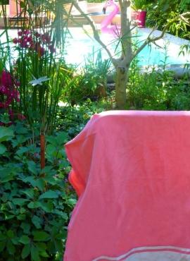 Fouta Bonbon Canvas - 100x200 - Pink - 100% cotton