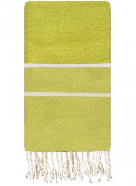 Fouta Bois Herringbone - 100x200 - Lime green - 100% cotton