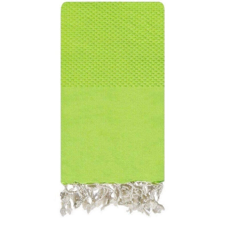 Fouta Lime Honeycomb - 100x200 - Lime green - 100% cotton