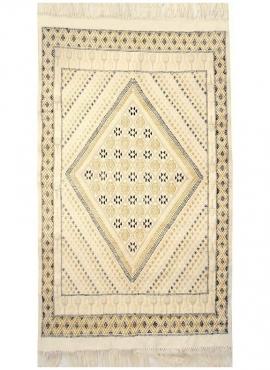 Berber Teppich Teppich Margoum Sefnou 115x190 Beige (Handgefertigt, Wolle, Tunesien) Tunesischer Margoum-Teppich aus der Stadt K