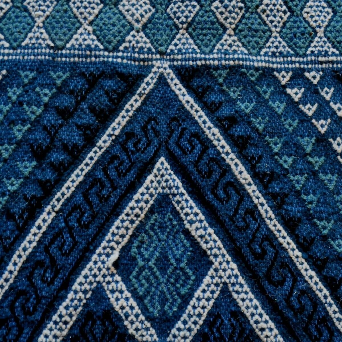 Berber carpet Rug Margoum Nidhal 120x180 Blue/White (Handmade, Wool, Tunisia) Tunisian margoum rug from the city of Kairouan. Re