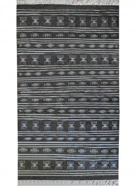 Berber carpet Rug Kilim Houria 110x200 Grey (Handmade, Wool, Tunisia) Tunisian Rug Kilim style Moroccan rug. Rectangular carpet