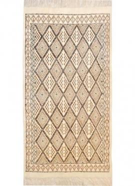 tappeto berbero Tappeto Margoum Mansoura 110x200 Beige/Marrone (Fatto a mano, Lana) Tappeto margoum tunisino della città di Kair