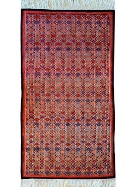 Berber carpet Rug Kilim Tanger 105x180 Red/Multicolour (Handmade, Wool) Tunisian Rug Kilim style Moroccan rug. Rectangular carpe