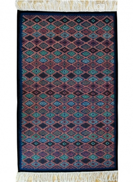 Berber carpet Rug Kilim Nassim 120x195 Blue/Red/Green (Handmade, Wool) Tunisian Rug Kilim style Moroccan rug. Rectangular carpet